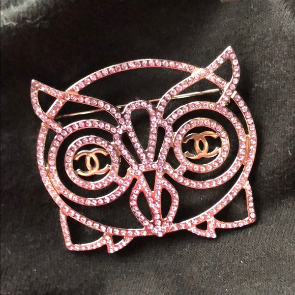 Chanel Owl Brooch Pin